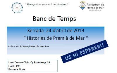 """24 d'abril 2019   Xerrada """"Històries de Premià de Mar"""""""